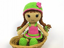 Návody a literatúra - Háčkovaná bábika Maria- návod - 3740518_