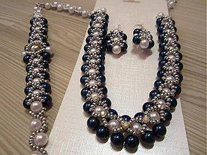 Sady šperkov - Modrá kolekcia - 3744306_