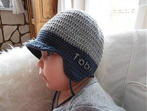 Detské čiapky - Prechodná šiltovka s menom - 3741632_