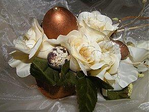 Dekorácie - Veľkonočná dekorácia_medeno biela - 3742235_