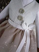 Bábiky - Zajačia slečna v sivej sukničke - 3741610_