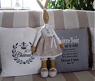 Bábiky - Zajačia slečna v sivej sukničke - 3741611_