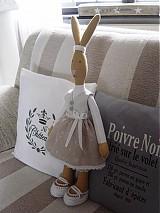 Bábiky - Zajačia slečna v sivej sukničke - 3741612_