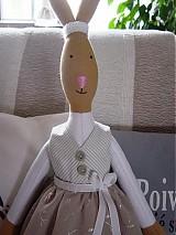 Bábiky - Zajačia slečna v sivej sukničke - 3741614_