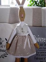 Bábiky - Zajačia slečna v sivej sukničke - 3741617_