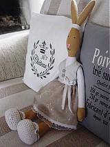 Bábiky - Zajačia slečna v sivej sukničke - 3741621_