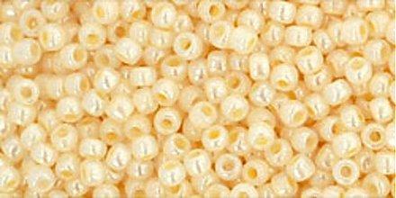 Korálky - Rokajl TOHO Round 11/0 - ryžový puding / 10g - 3745161_