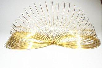 Suroviny - Pamätový drôt /60 mm x 0.6mm/ 5 otočiek - 3745672_
