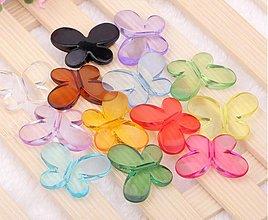 Korálky - Plastové korálky motýliky (balíček 10ks) - 3746280_