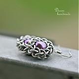 Náušnice - Muměnky fialové - náušnice - 3753872_