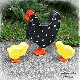 Dekorácie - sliepočka s kuriatkami - 3752163_