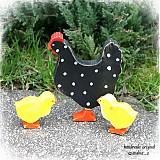 Dekorácie - sliepočka s kuriatkami - 3752164_