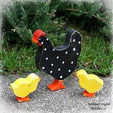 Dekorácie - sliepočka s kuriatkami - 3752162_