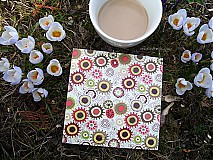 Pomôcky - Podšálky - podložky pod poháre - jarná kávička - 3751097_