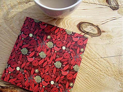 Podšálky - podložky pod poháre - jarná kávička