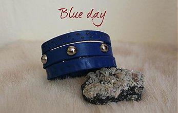 Náramky - Modrý náramok - Blue day - 3756763_