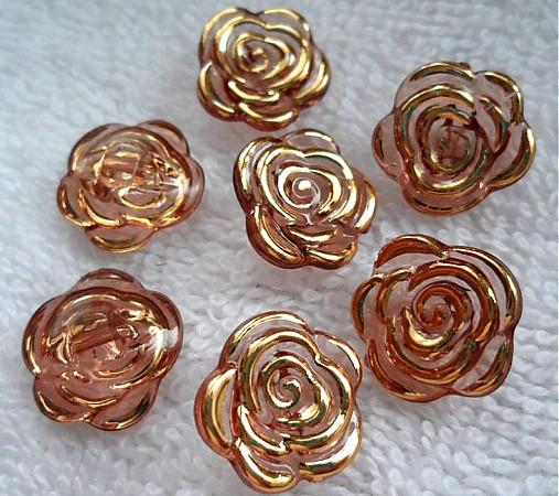 Gombík-ruža 15mm-1ks