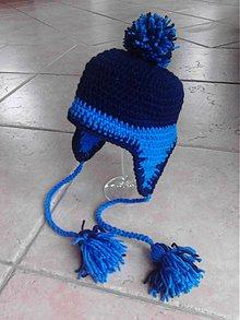 Detské čiapky - Modračik - 3757037_