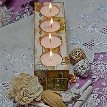 Svietidlá a sviečky - LAMPÁŠE A SVIETNIKY (drevený) - 3758773_