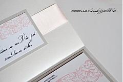 Papiernictvo - Svadobné oznámenie SILVER PINK II. - 3759357_