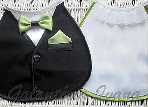Iné doplnky - Svadobné podbradníky Sme svoji bez výšivky farba podľa výberu (zelené) - 3758927_