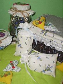 Úžitkový textil - Vrecúška na levanduľku - 3762065_