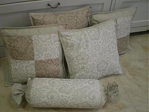 Úžitkový textil - Vankúšiky a valec - šili sme na objednávku - 3759237_