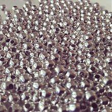 Korálky - Korálky kovové platina, 6mm, 0.45€/10ks - 3759834_