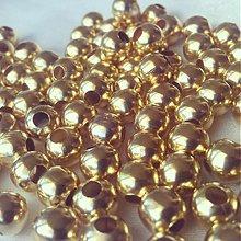 Korálky - Korálky kovové zlaté, 6mm, 0.45€/10ks - 3759845_