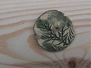 Materiál ručne robený - Reliéfny keramický gombík 3 cm - 3763729_