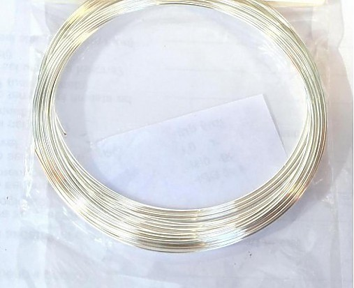 Strieborný drôtik 0,6 mm