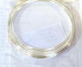 Suroviny - Strieborný drôtik 0,6 mm - 3766227_