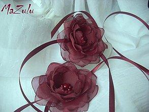Nádoby - kvety na uviazanie svadobných pohárov - 3769107_