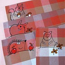 Úžitkový textil - NÁVŠTĚVA z LESA - prostírání - 3769503_