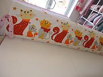 Úžitkový textil - zástena -dlhý vankúš mačičkový - 3768079_