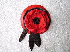 Odznaky/Brošne - Brošňa koženo-textilná, čertica voňavá - 3767417_