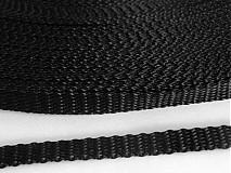 Textil - popruh čierny 10 mm - 3773742_