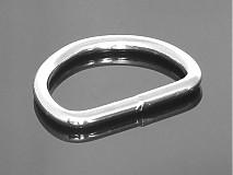 Galantéria - polokrúžok 40 mm nikel - 3773771_