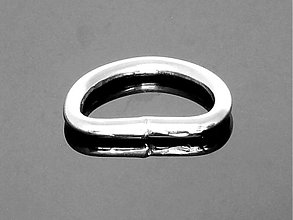 Galantéria - polokrúžok 20 mm nikel - 3773831_