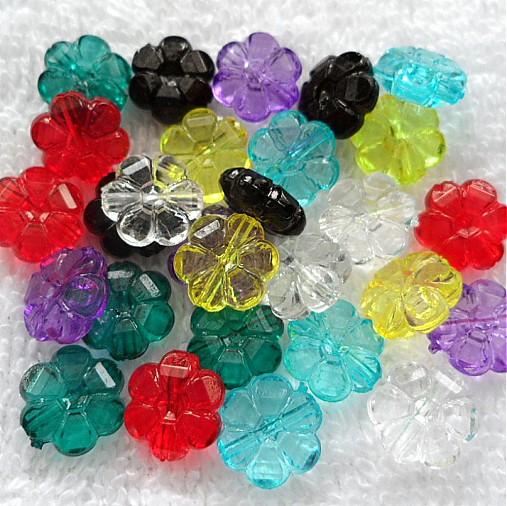 Kvet plast 10mm-MIX 28ks
