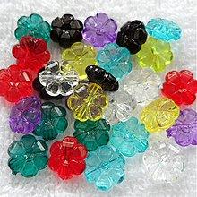 Korálky - Kvet plast 10mm-MIX 28ks - 3775021_