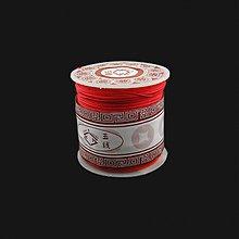 Galantéria - NAV3311, ŠNÚRKA Shamballa 1mm ČERVENÁ /1m - 3771606_