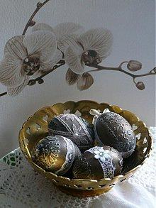 Dekorácie - Nostalgické bronzové vajíčka- sada - 3772993_
