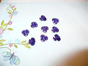 Korálky - ružičky kovové -  10 ks - 3775015_