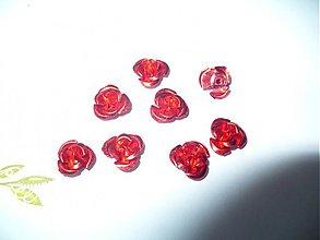Korálky - kovové ružičky - 10 ks - 3775035_