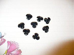 Korálky - kovová ružička - 10 ks - 3775105_