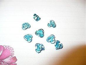 Korálky - kovové ružičky  -  10 ks - 3775157_