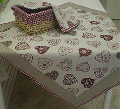 Úžitkový textil - Obrusy a košík - šili sme na objednávku - 3775818_