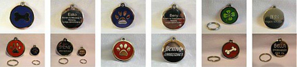 Pre zvieratká - Gravírované psie známky Red Dingo stredné - 3781228_