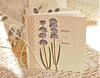 Papiernictvo - svadobné oznámenia - levanduľové pole - 3781652_